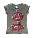 Nagy robot piros női póló