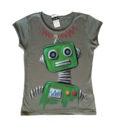 Nagy robot zöld női póló